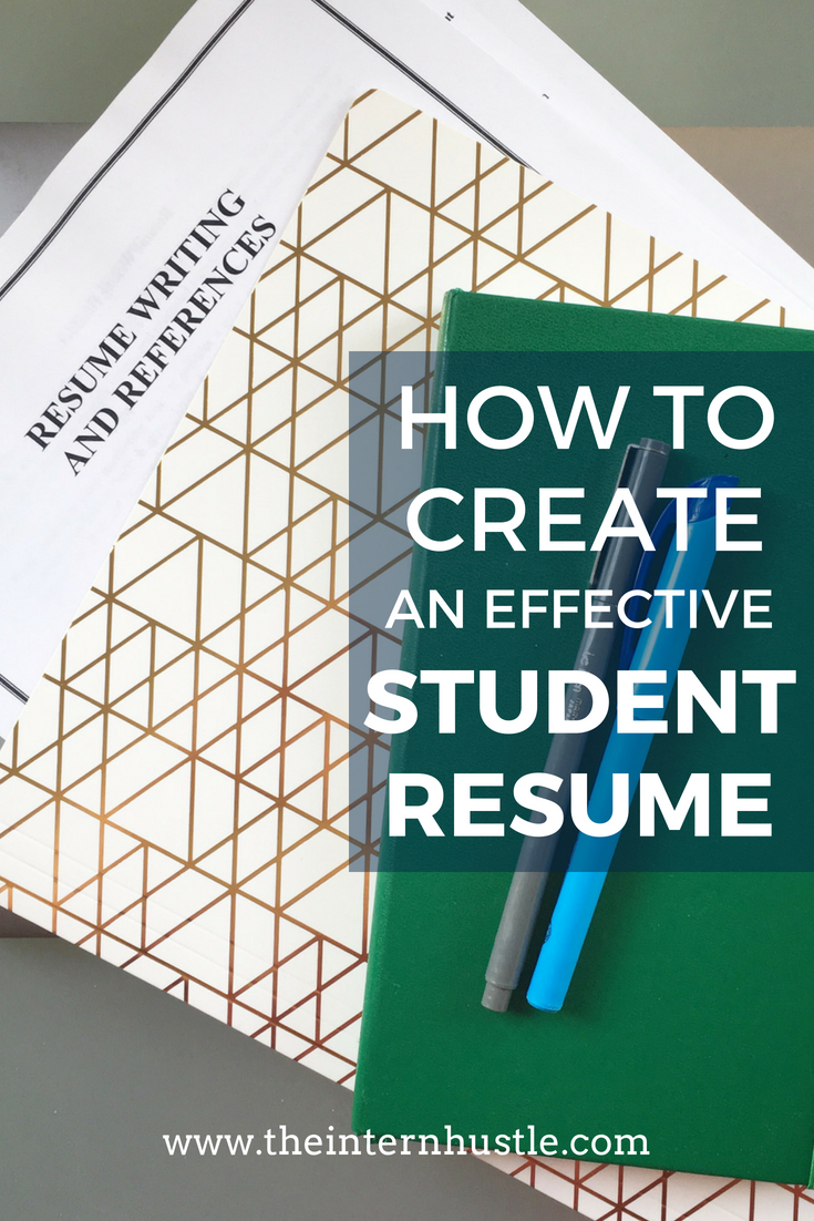 How to Create an Effective Student Resume