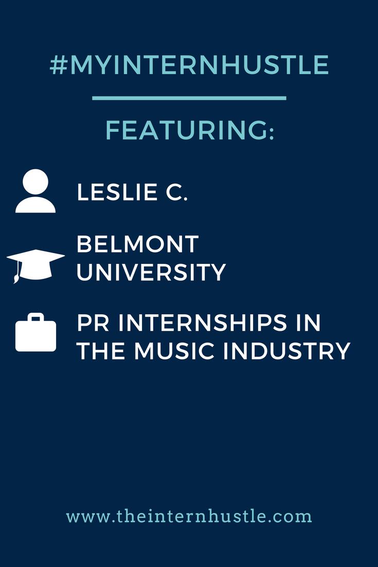 My Intern Hustle: Leslie C., Belmont University
