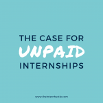value of unpaid internships