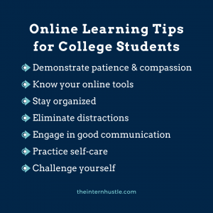 Online Learning Tips for College Students