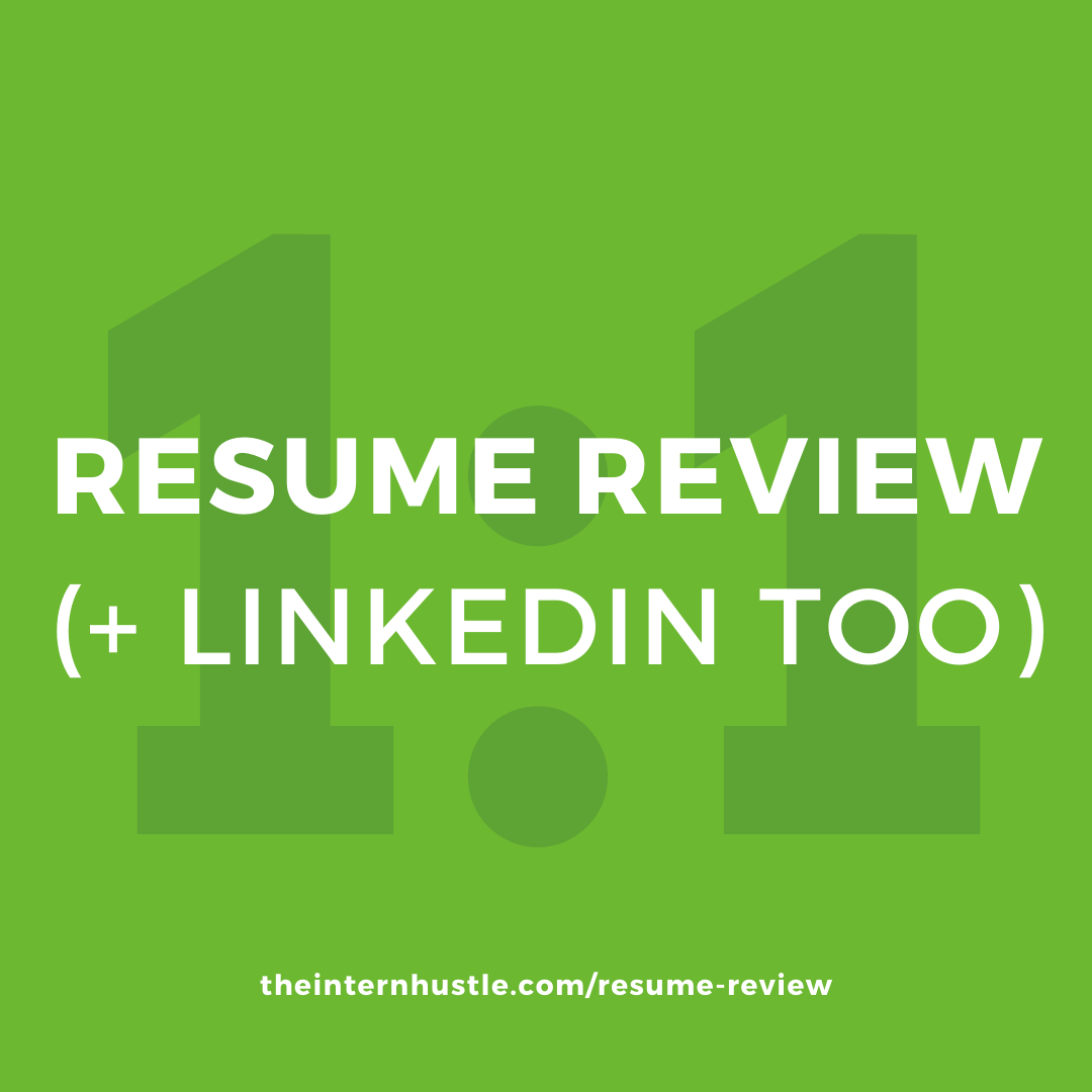 resume review coaching