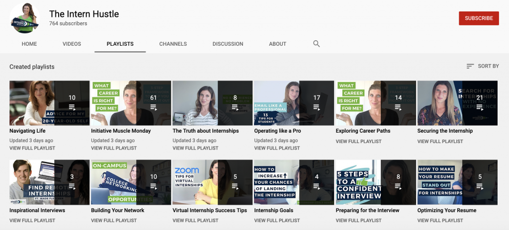 The Intern Hustle YouTube Playlists